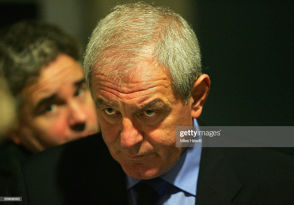 Scotland manager Walter Smith faces the press after his team's convincing 3-0 victory in the FIFA World Cup group 5 qualifying match between Slovenia and Scotland on October 12, 2005 at the Petrol Arena Stadium in Celje, Slovenia.