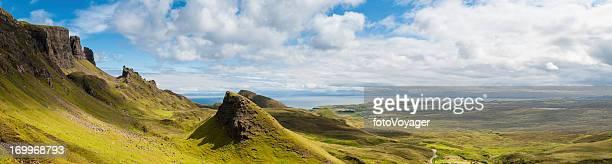 Scotland mountain pinnacles Quiraing Isle of Skye