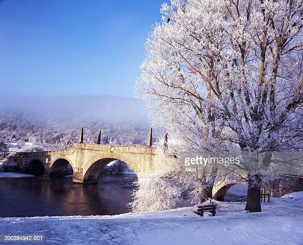 Scotland, Perthshire, Aberfeldy, Wades Bridge,  winter