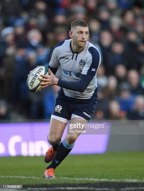 Scotland player Finn Russell in action during the Guinness Six Nations Championship match between Scotland and Italy at Murrayfield on February 02...
