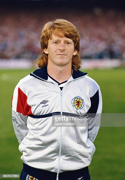 Scotland player Gordon Strachan pictured before the World Cup Qualifier between Wales and Scotland at Ninian Park on September 10 1985 in Cardiff...