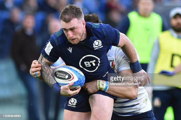 Scotland player Stuart Hogg during the match Italy Scotland in the olimpic stadium Rome February 22nd 2020