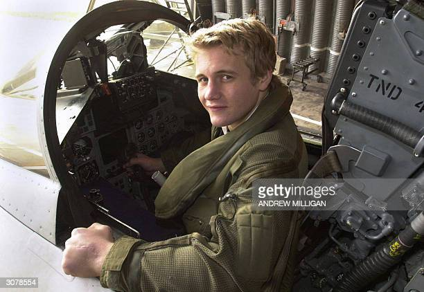 Scotland rugby star Simon Taylor poses in a fighter jet at RAF Leuchers Scotland 12 March to publicise a fly past by the RAF ahead of the next RBS 6...