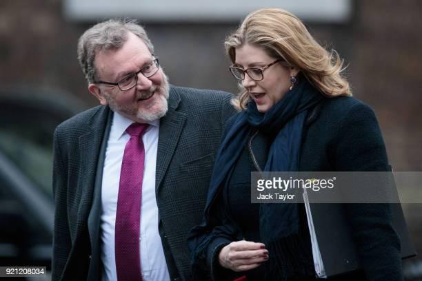 Scotland Secretary David Mundell and International Development Secretary Penny Mordaunt arrive on Downing Street for the weekly cabinet meeting on...