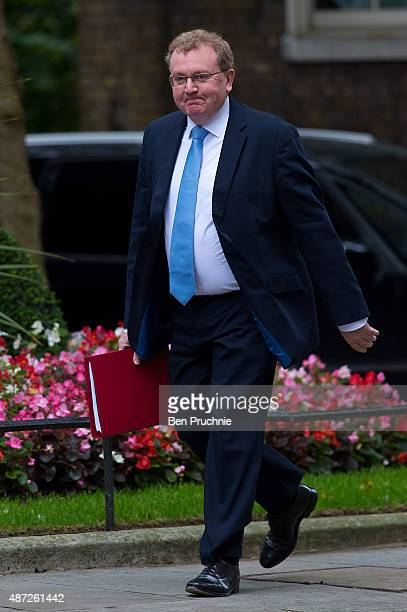 Scotland Secretary David Mundell arrives at Downing Street for a cabinet meeting on September 8 2015 in London England Prime minister David Cameron...