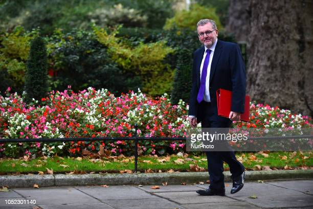 Scotland Secretary David Mundell arrives for a weekly meeting of cabinet ministers at number 10 Downing Street in London on October 16 2018 Prime...