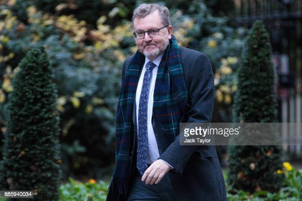 Scotland Secretary David Mundell arrives for the weekly cabinet meeting at Downing Street on December 5 2017 in London England British Prime Minister...