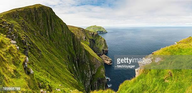 Scotland St Kilda sea cliffs Western Isles panorama
