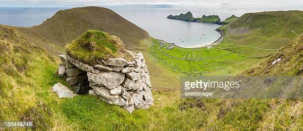 Scotland St Kilda Village Bay stone cleit Western Isles