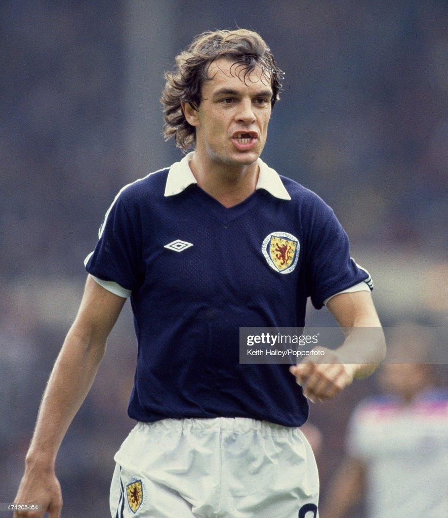 Scotland striker Joe Jordan during the British Championship match between England and Scotland at Wembley Stadium, 23rd May 1981.