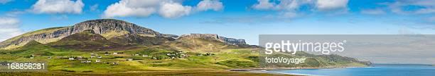 Scotland summer on the Isle of Skye Quiraing panorama