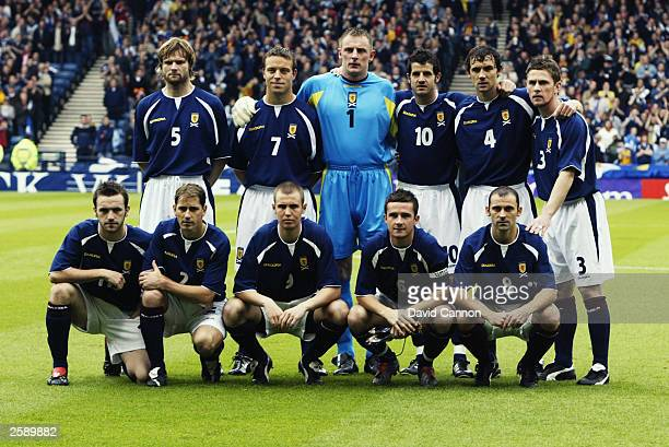 Scotland team group taken before the UEFA European Championships 2004 Group 5 Qualifying match between Scotland and Lithuania held on October 11 2003...