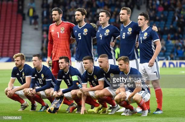 Scotland Team Group Top Row Craig Gordon Charlie Mulgrew John Souttar Kevin McDonald and John McGinn Bottom Row Stuart Armstrong Callum McGregor...