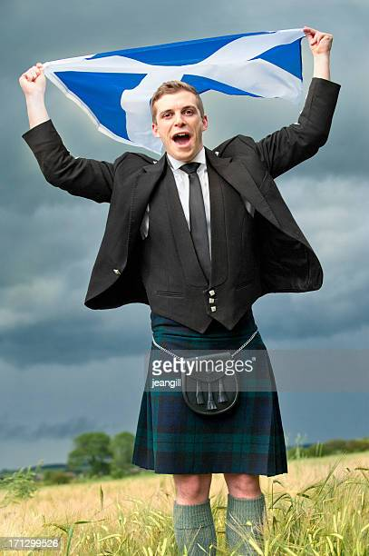 scotland the brave - kilt stock photos and pictures