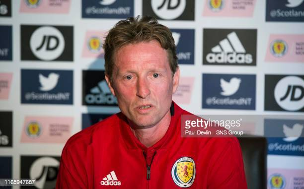 Scotland Under 21's manager Scot Gemmill pictured during a Scotland media session at Norton House Hotel on September 4 in Edinburgh Scotland