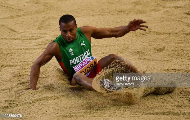Scotland United Kingdom 1 March 2019 Nelson Évora of Portugal competing in the Men's Triple Jump during day one of the European Indoor Athletics...