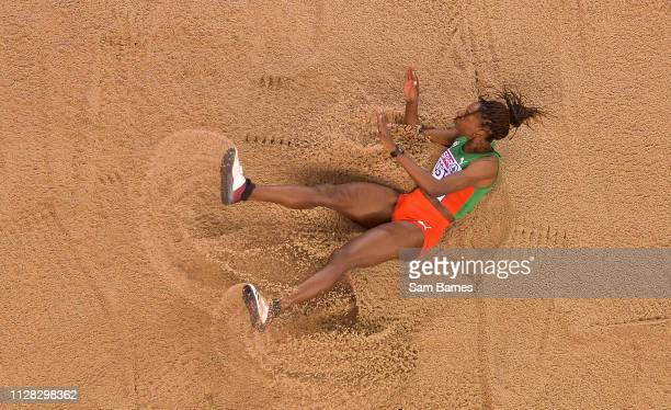 Scotland United Kingdom 1 March 2019 Susana Costa of Portgual competing in the Women's Triple Jump event during day one of the European Indoor...