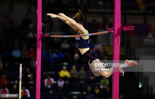 Scotland , United Kingdom - 2 March 2019; Ninon Guillon-Romarin of France competing in the Women's Pole Vault event during day two of the European...