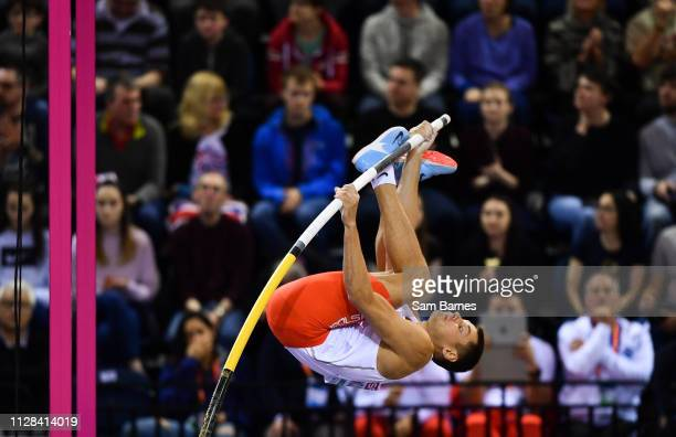Scotland United Kingdom 2 March 2019 Pawe Wojciechowski of Poland competing in the Men's Pole Vault event during day two of the European Indoor...