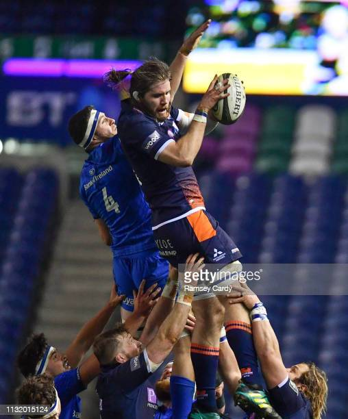 Scotland United Kingdom 22 March 2019 Ben Toolis of Edinburgh in action against Josh Murphy of Leinster during the Guinness PRO14 Round 18 match...