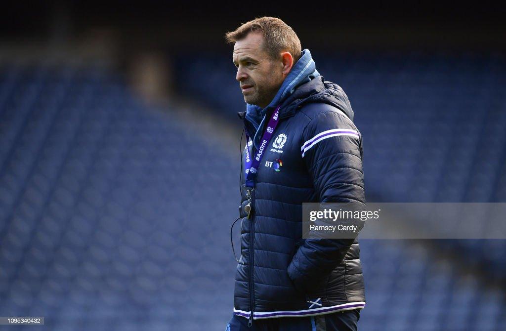Scotland Rugby Captain's Run : News Photo
