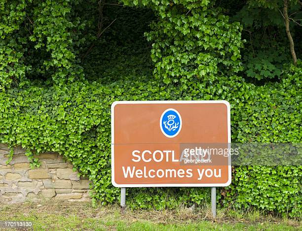 'Scotland Welcomes You' Border Sign