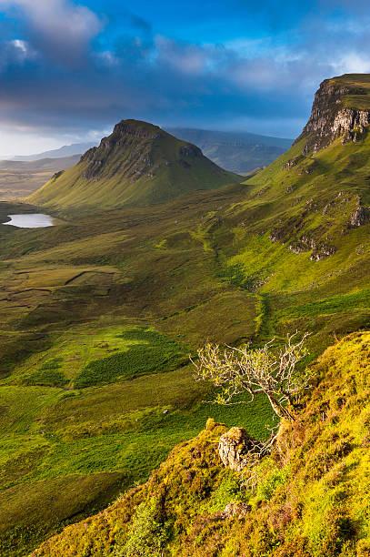 Scotland Wild Landscape Golden Light Mountain Ridge Highlands Wall Art