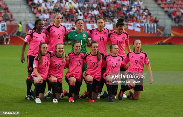 Scotland women team group during the UEFA Women's Euro 2017 match between England and Scotland at Stadion Galgenwaard on July 19 2017 in Utrecht...