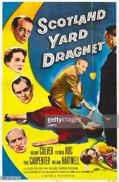 Scotland Yard Dragnet poster US poster art from top left Roland Culver Patricia Roc Paul Carpenter William Hartnell 1957