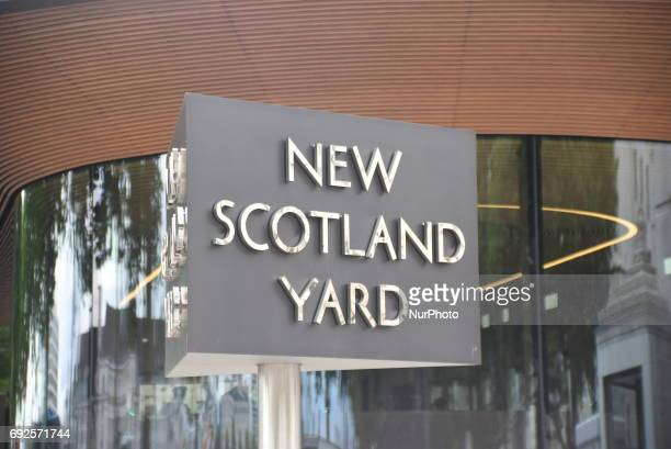 Scotland Yard headquarters is pictured in London on June 5, 2017. Metropolitan Police is hard working after the London Bridge and Borough Market's...
