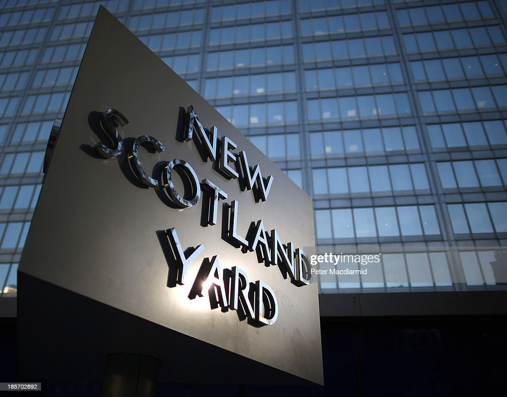 Scotland Yard - headquarters of the Metropolitan Police on October 24, 2013 in London, England. Eight Romanian and three Polish officers are to work in London alongside Metropolitan police officers over a two-year period in the fight against offenders from abroad.
