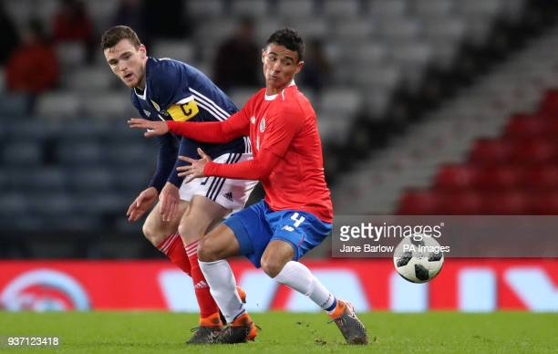 Scotland's Andrew Robertson and Costa Rica's Ian Smith battle for the ball during the international friendly match at Hampden Park, Glasgow.