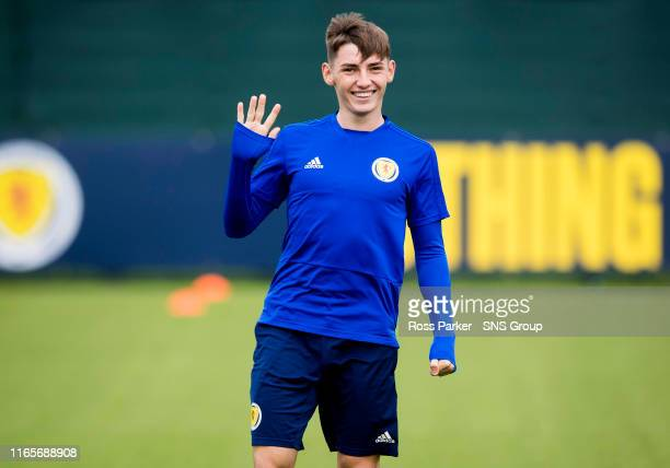Scotland's Billy Giomour is pictured during a Scotland Under 21 media session at Norton House on September 2 in Edinburgh Scotland