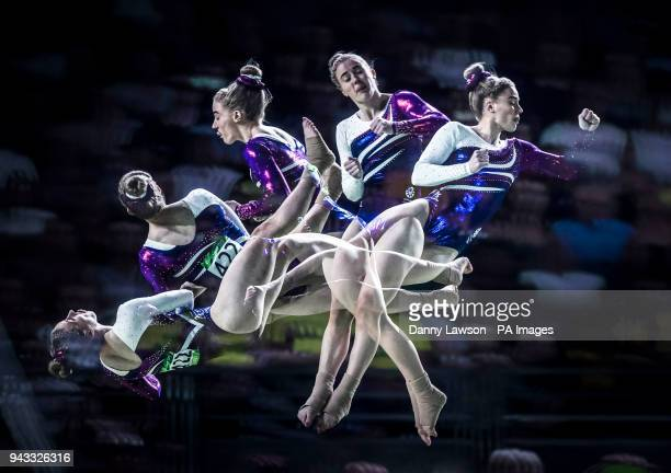 Scotland's Cara Kennedy competes during the Woman's Vault at the Coomera Indoor Sports Centre during day four of the 2018 Commonwealth Games in the...