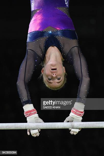 Scotland's Cara Kennedy competes on the vault during the women's individual allaround final in the artistic gymnastics event during the 2018 Gold...