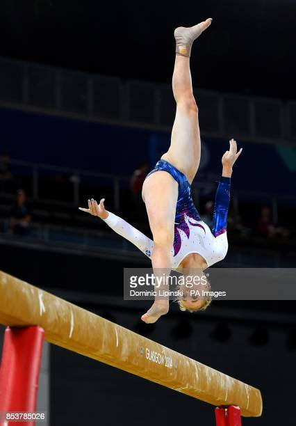 Scotland's Cara Kennedy during the Women's Artistic Gymnastic's Team Final and Individual Qualification at the SSE Hydro during the 2014 Commonwealth...