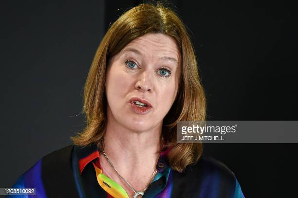 Scotland's Chief Medical Officer Catherine Calderwood speaks as she holds a briefing on the novel coronavirus COVID19 outbreak in Edinburgh on March...