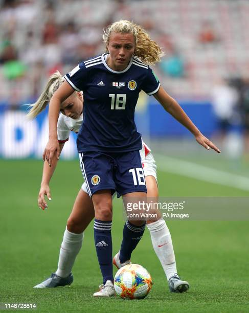 Scotland's Claire Emslie in action during the FIFA Women's World Cup Group D match at the Stade de Nice