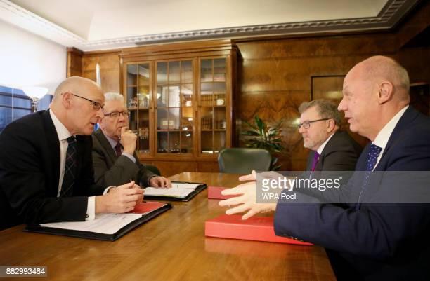 Scotland's Deputy First Minister John Swinney Brexit Minister Michael Russell meet Scottish Secretary David Mundell and First Secretary of State...