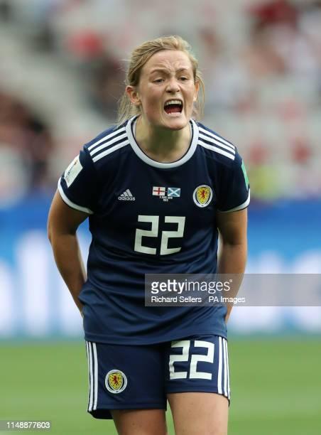 Scotland's Erin Cuthbert during the FIFA Women's World Cup Group D match at the Stade de Nice