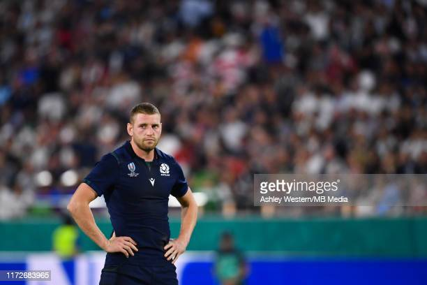 Scotland's Finn Russell looks on during the Rugby World Cup 2019 Group A game between Scotland and Samoa at Kobe Misaki Stadium on September 30, 2019...