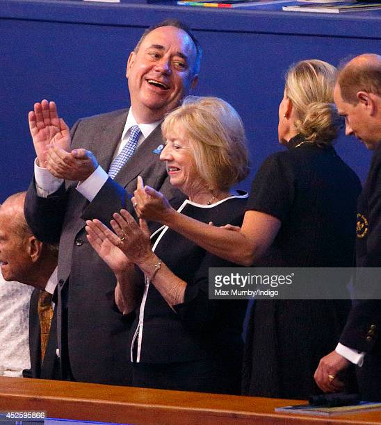 Scotland's First Minister Alex Salmond Moira Salmond and Sophie Countess of Wessex attend the Opening Ceremony for the Glasgow 2014 Commonwealth...