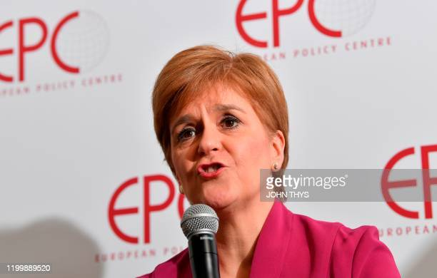 Scotland's First Minister and leader of the Scottish National Party Nicola Sturgeon deliver a speech on Scotland's European future after Brexit on...