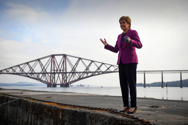 GBR: Nicola Sturgeon Continues Campaign Trail In South Queensferry