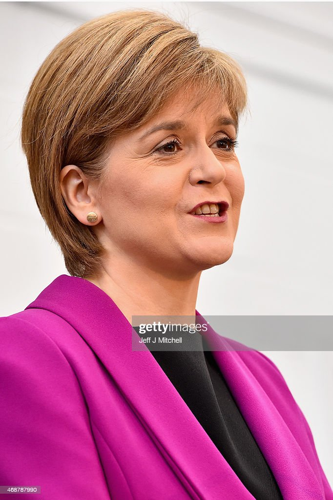 Leader Of The SNP Nicola Sturgeon Gives A Speech On Child Poverty