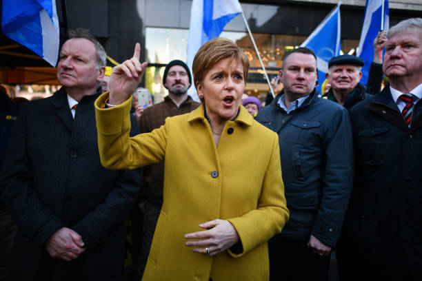 GBR: Nicola Sturgeon On The Campaign Trail In Perth