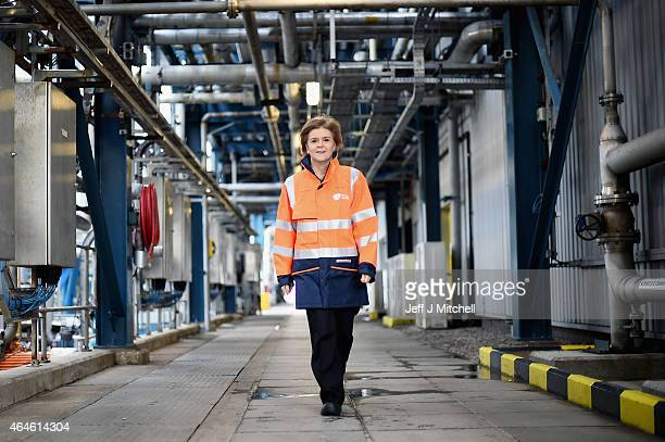 Scotlands First Minister Nicola Sturgeon marks hers first 100 days in office with a visit to Glaxo Smith Kline where she met with apprentices on...