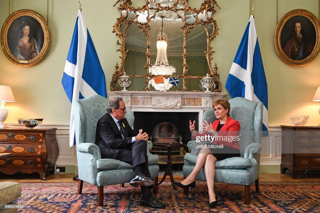 The Scottish First Minister Meets The President Of Catalonia