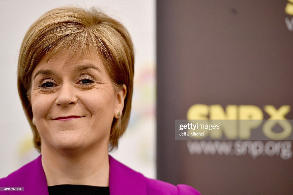 Leader Of The SNP Nicola Sturgeon Gives A Speech On Child Poverty : News Photo