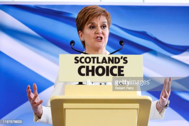 Scotland's First Minister Nicola Sturgeon speaks to activists, elected members, and the media, as she sets out the next steps in the SNP's campaign...